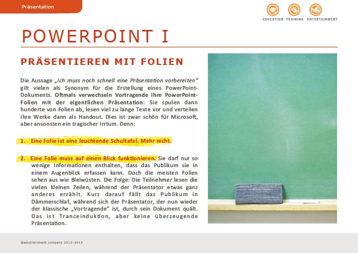 Powerpoint – Präsentieren mit Folien