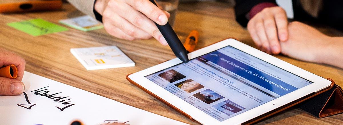iPad im Verkaufsgespräch