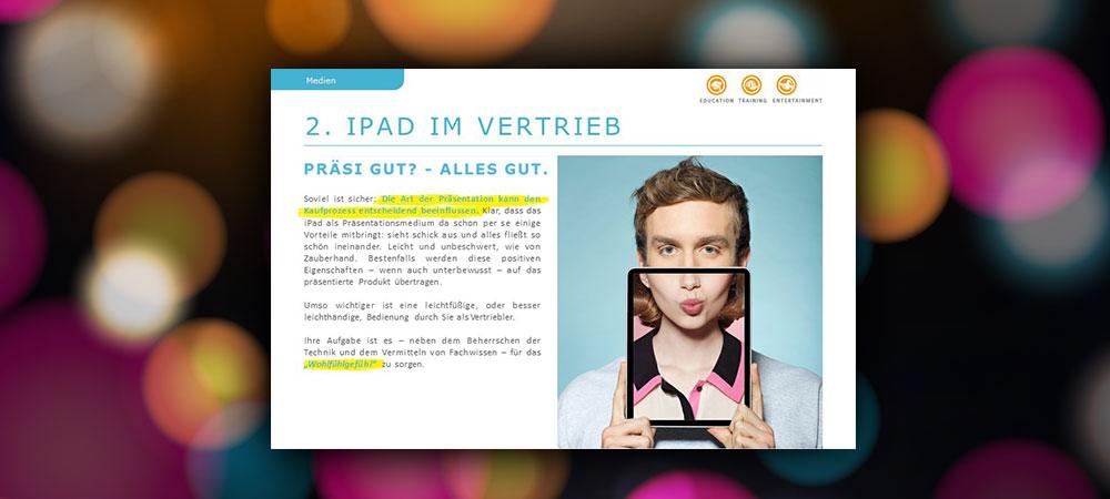 iPad im Vertrieb: Präsi gut? Alles gut.