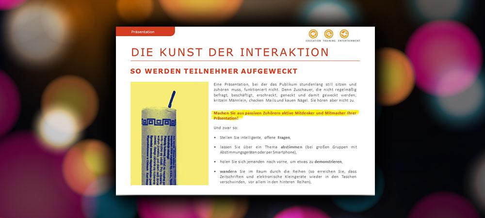 Die Kunst der Interaktion: So werden Teilnehmer aufgeweckt
