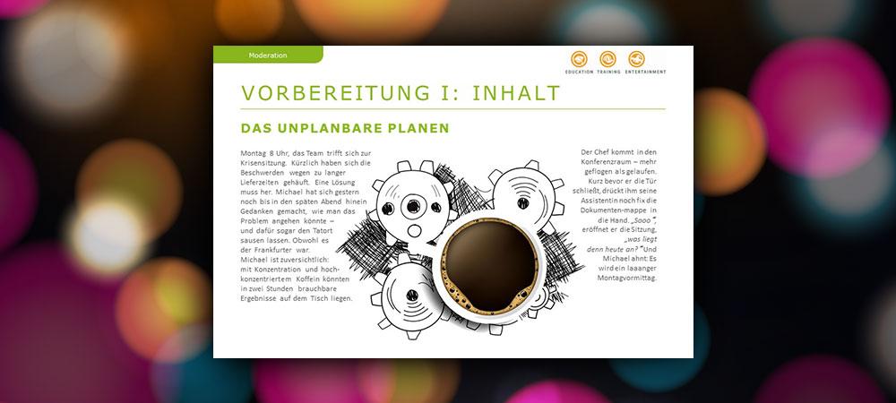 Vorbereitung von Meetings: Das Unplanbare planen
