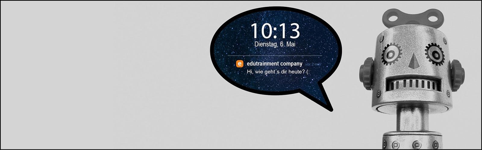 Lernen mit Chatbots: Algorithmenbasierte Lernbegleiter der Zukunft