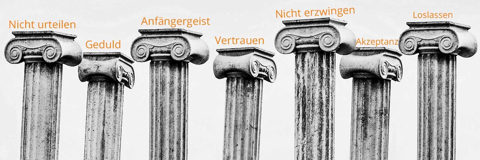 Die 7 Säulen der Achtsamkeit