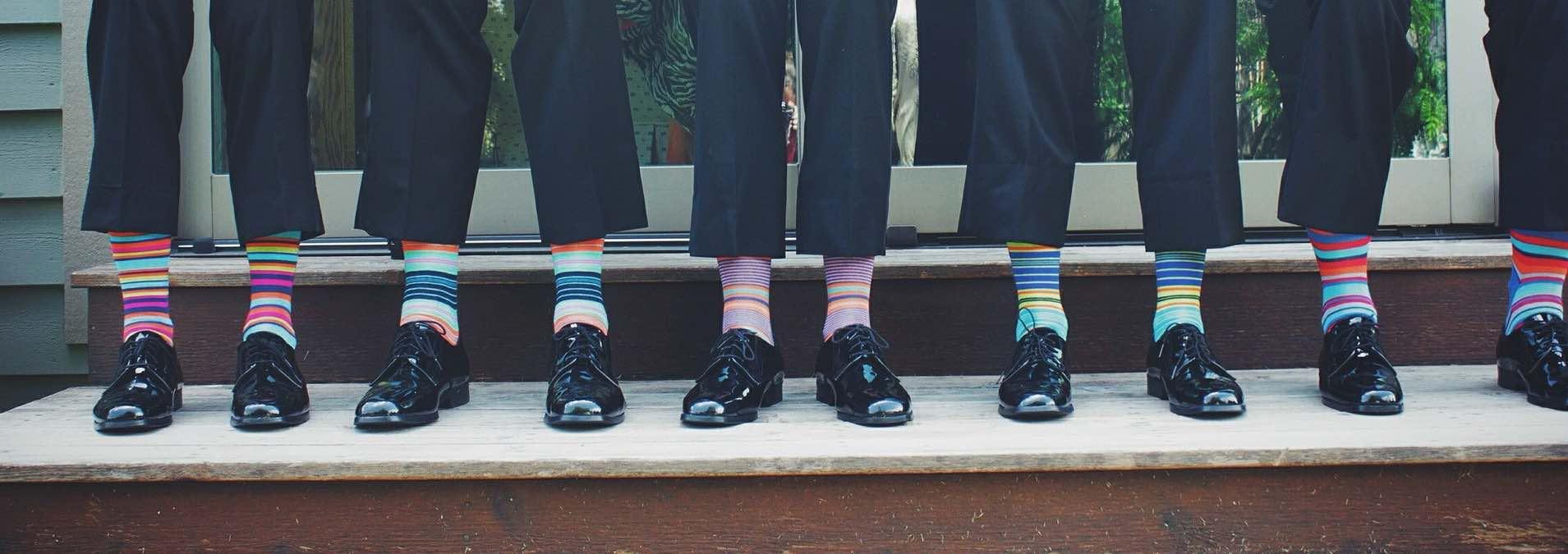 Auch bunte Socken können entzücken